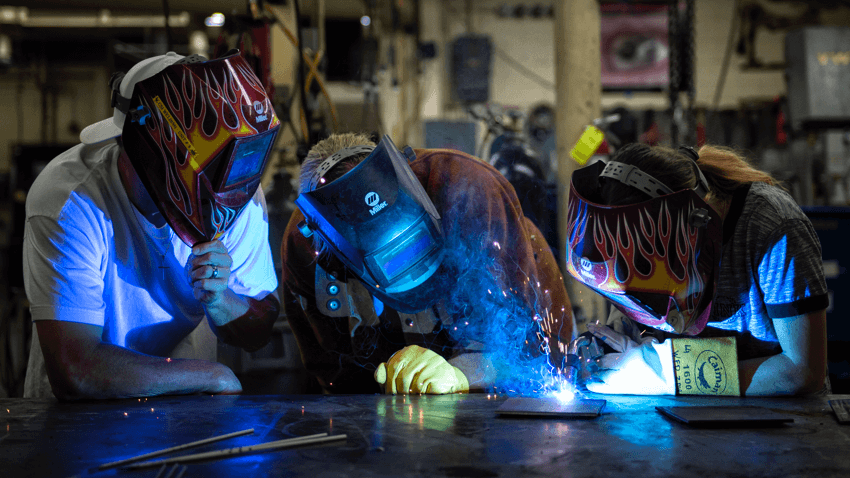 A group of welders.